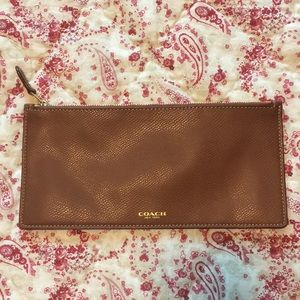 Coach leather pouch, NWOT